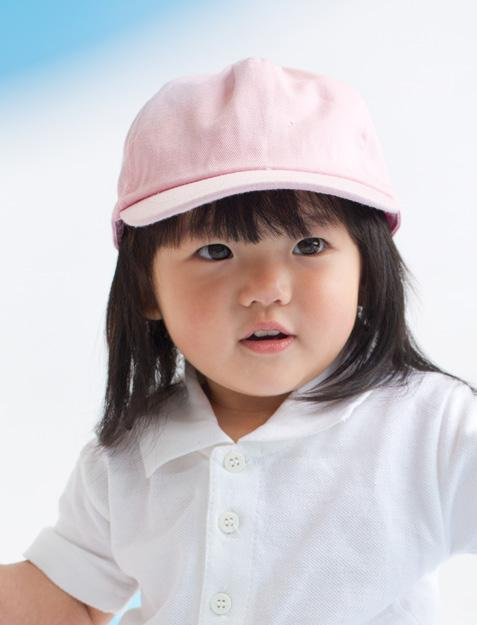 BABY CAP LW090 Cotton twill cap with double front panel and