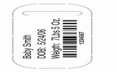 Bar Code ID Bands Short Stay LabelBand - Clear adhesive shield provides optimal protection from solvents for accurate bar code scanning - Tough Tyvek construction is water-resistant, durable and