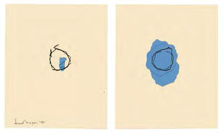 LOUISE BOURGEOIS Reparation, 1991 For Parkett 27 Front Back Fabrication of printed and handcolored paper, handtorn,