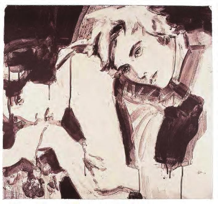 ELIZABETH PEYTON Oscar and Bosie, 1998 For Parkett 53 Two-color lithograph on hand-tinted Somerset Satin, lightly finished with pearlescent dust, ca.