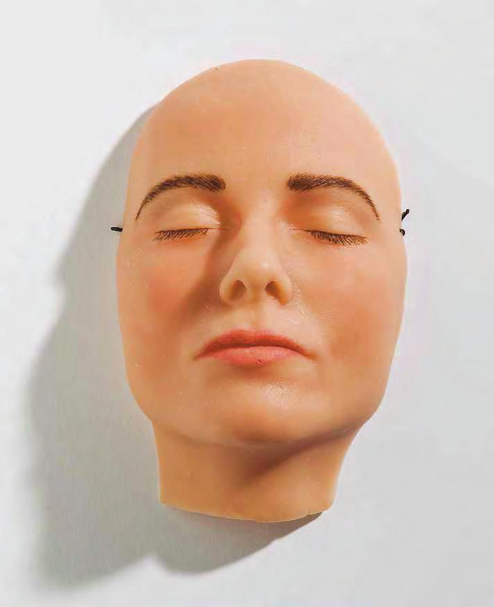 GILLIAN WEARING Sleeping Mask, 2004 For Parkett 70 Wax (reinforced by polymer resin), paint, 8 1 /4 x 5 5