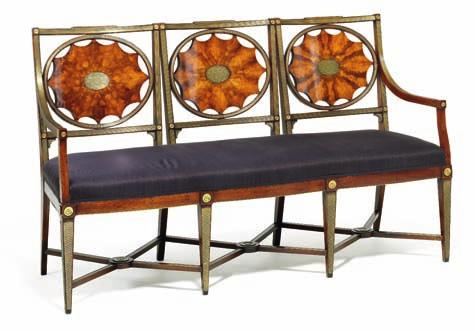 360 360 russian brass mounted mahogany five piece salon suite decorated