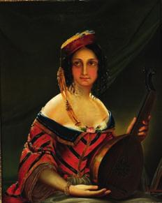 DKK 50,000-75,000 / 6,700-10,000 15 15 MADAME DONHOFFER 19th century Oriental woman in a colourful dress holding a lute.