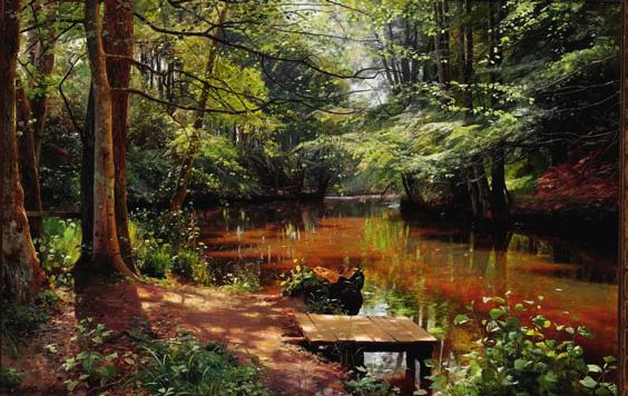 65 65 PEDER MØNSTED b. Grenaa 1859, d. Fredensborg 1941 Glimpses of the sun in Sæby stream.