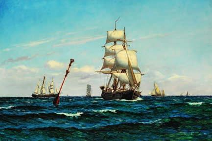 76 76 CARL LOCHER b. Flensburg 1851, d. Skagen 1915 Numerous sailing ships at sea.