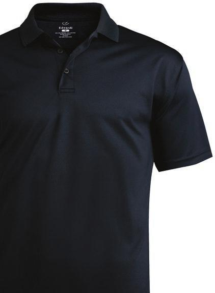 SECURITY 3 Performance Flat Knit Polo 1580 SHORT SLEEVE 100% polyester, 4.6 oz.