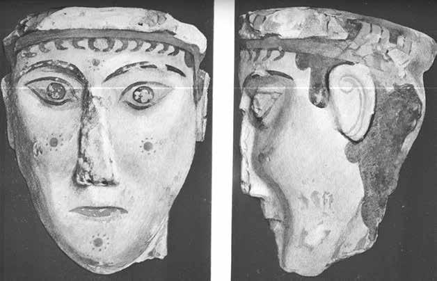 258 Tina Boloti Fig. 11.16: Mycenae, acropolis. The female plastered head. After Τσούντας 1902, pl. 1. Fig. 11.17: Pylos. The so-called White goddess. After Lang 1969, pl. 127.
