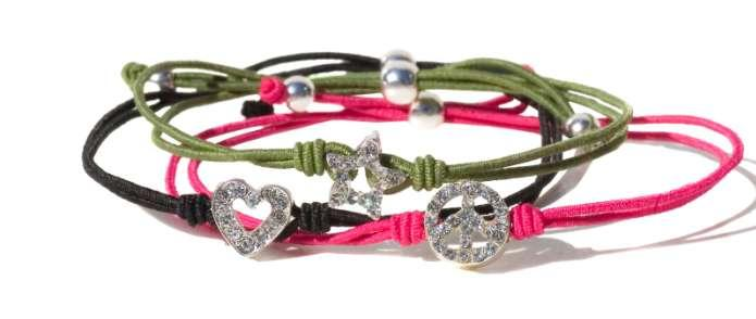 Friends Trends Friendship Bracelets The Friendship bracelets come in 5 different designs and colours and are perfect to mix and match with any outfit or to swap with your friends.