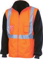 3996 HIVIS X BACK RAIN JACKET BIO-MOTION TAPE 200D polyester/pvc, Seam-sealed, waterproof