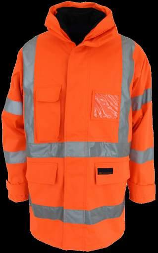 3571 HIVIS H PATTERN BREATHABLE RAIN JACKET BIO-MOTION TAPE 300D heavy duty polyester/pu,