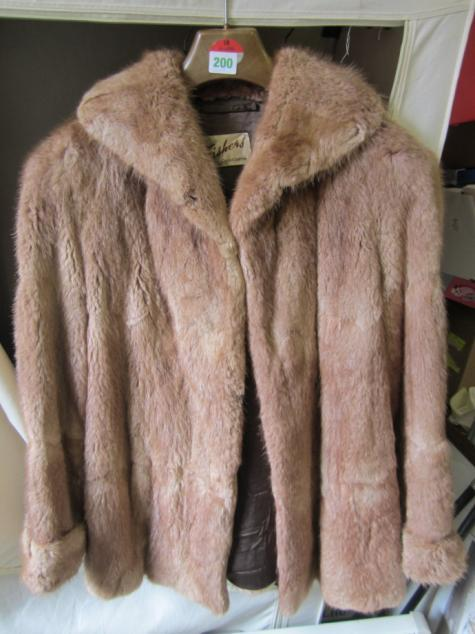 "Short vintage real fox fur coat made by ""Fishers"" of"