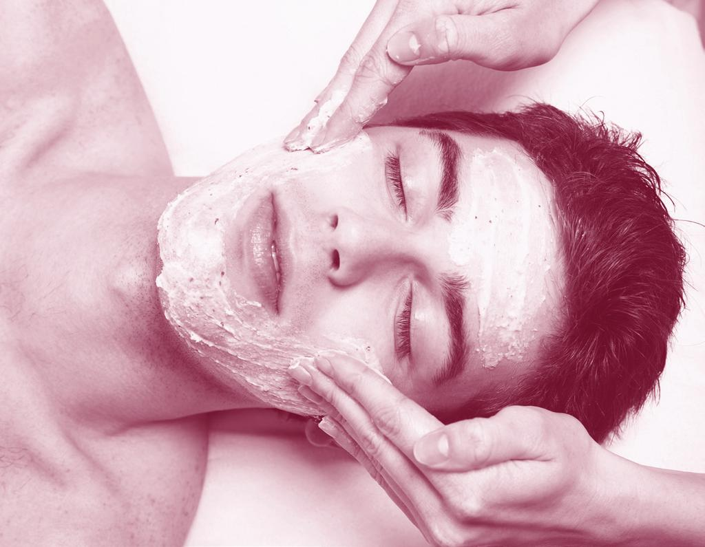 Mens Skin Care Mens Exclusive Facial A deep cleansing begins the treatment, followed by an enzyme peel and extractions to remove any congestion.