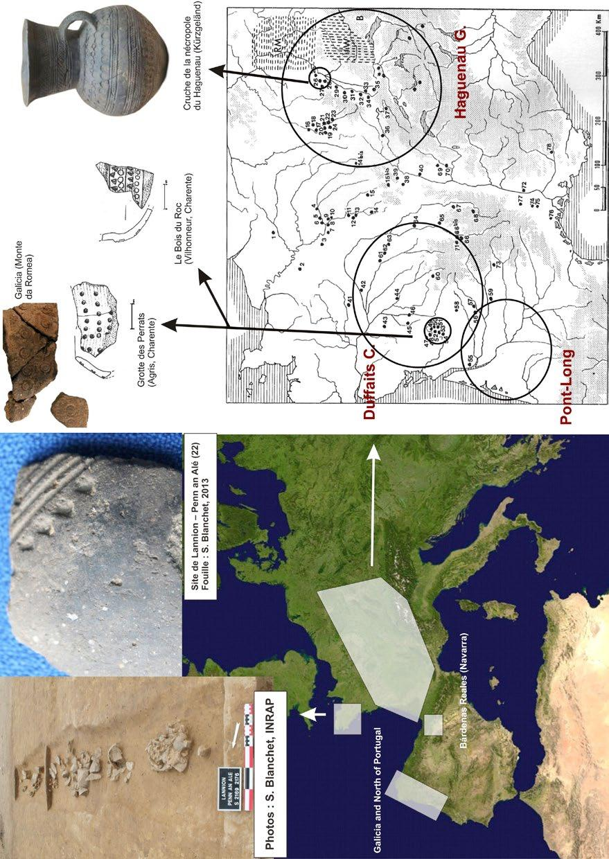 Later Prehistory to the Bronze age: 1. The Emergence of warrior societies Figure 10. Location of the areas with stamped pottery with a possible influence in the NW Iberian Peninsula.