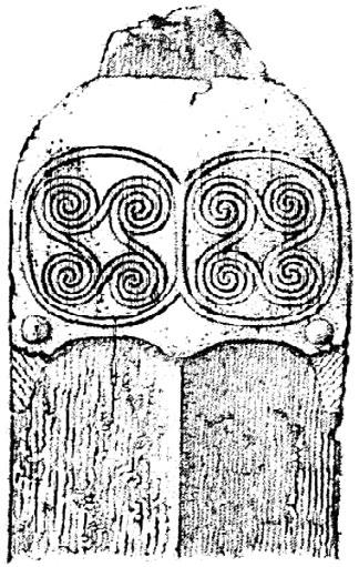 Later Prehistory to the Bronze age: 1. The Emergence of warrior societies Figure 8. Axe with a meander swastika. (After Farina, 1995-96). Figure 9. Dagger from Mycenae. (After Müller, 1886). 3.