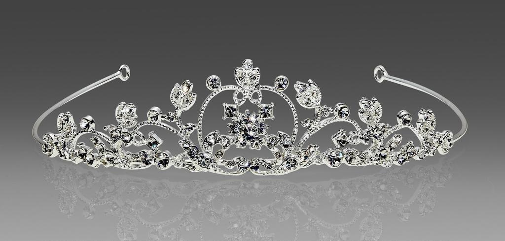 #1543 A long running favorite: the classic 'Cinderella's Carriage' tiara offering an organic and open design with just the right amount of subtle