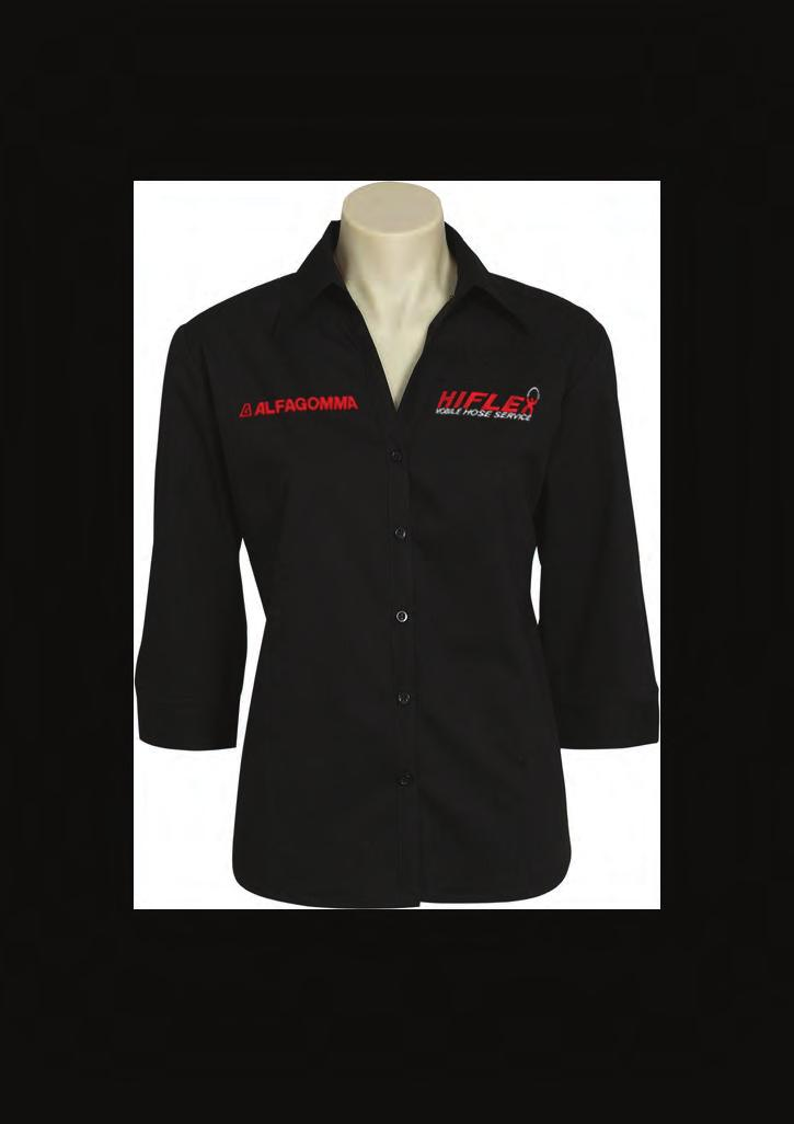 NOTHING S MORE IMPORTANT THAN SAFETY LB 7300 - LADIES METRO 3/4 SLEEVE STRETCH SHIRT