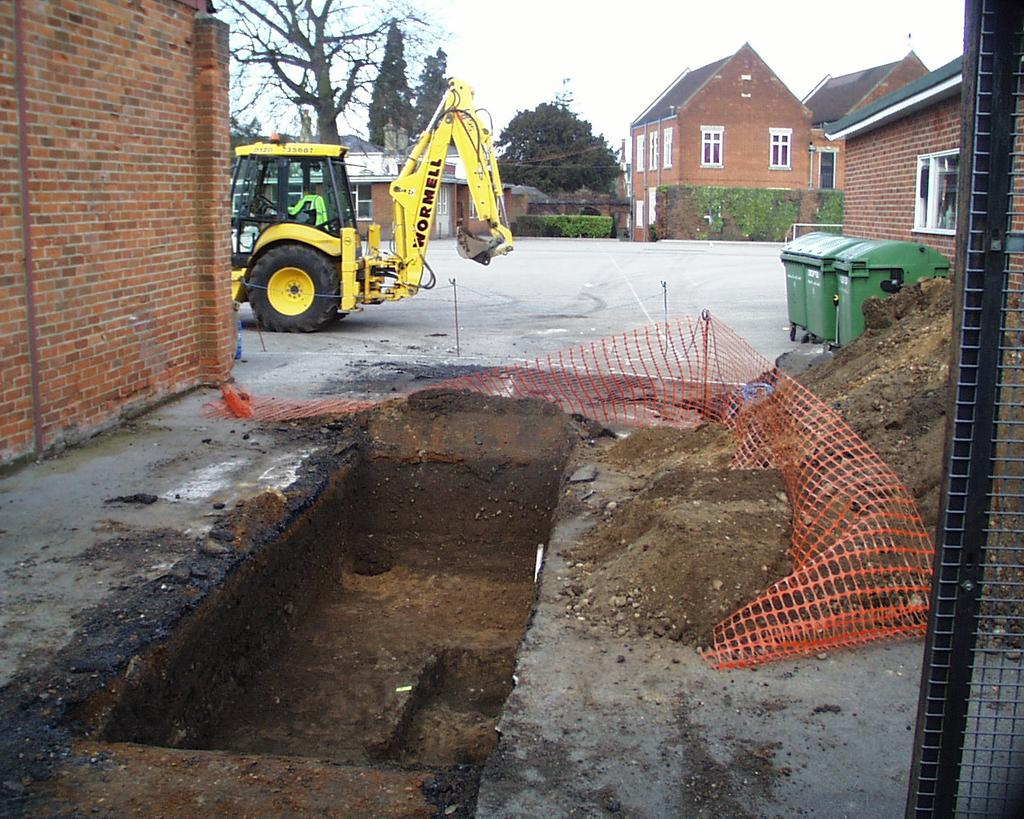 An archaeological evaluation in the playground of Colchester Royal Grammar School, Lexden Road, Colchester,