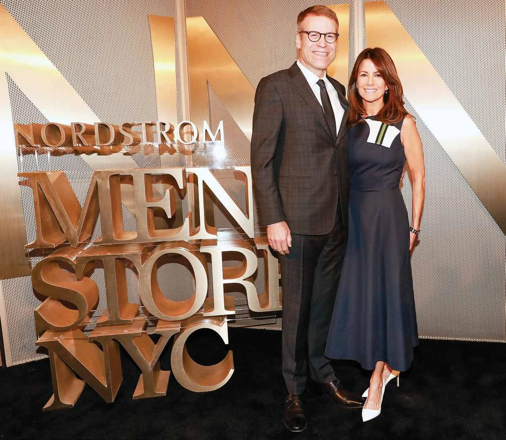 With his wife, Molly, at Nordstrom s men s store opening in New York last April and with the consistency that he did.