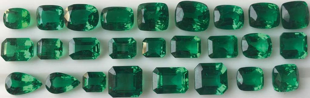 INTELLIGENCE A wide variety of emerald shapes and sizes from LRS Gems Ltd Emeralds are a complimentary product to diamonds in their essence.