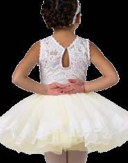 Attached white over ivory chiffon tutu.