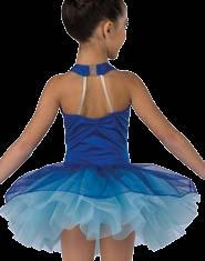 Attached glitter ombre tulle top