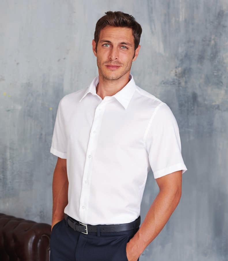 NON IRON FABRIC KA523 MEN S SHORT SLEEVE SUPREME NON IRON SHIRT 100 % cotton Micro Twill. Non iron fabric. Fitted style.