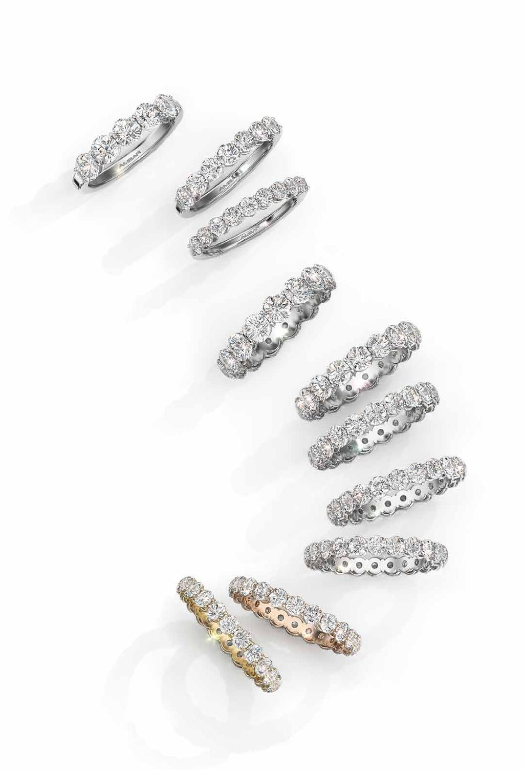 Divine Cut Diamond Bands Magnificent Divine Cut diamonds in your choice of all the way