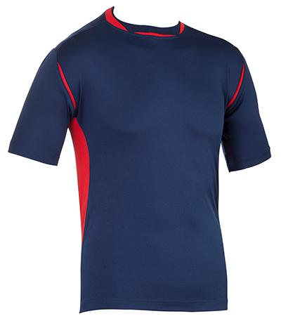 WARM UP SHIRT Micro Technical Training Shirt Combines with 0671 Shorts Contrast trim detail Easy care Light weight Quick dry Scooped hem Soft touch Technical fit Price per
