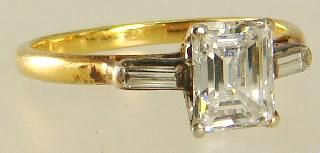 diamond solitaire ring,.67ct, VVS1, G1.