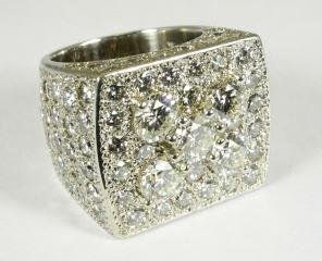 50tcw with consignors  $10,000 - $12,500 416 Pair of 18k white gold diamond and