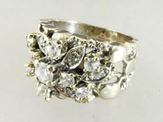 Lot # 458 459 Lot # 453 453 14k white gold and diamond ring with appraisal.